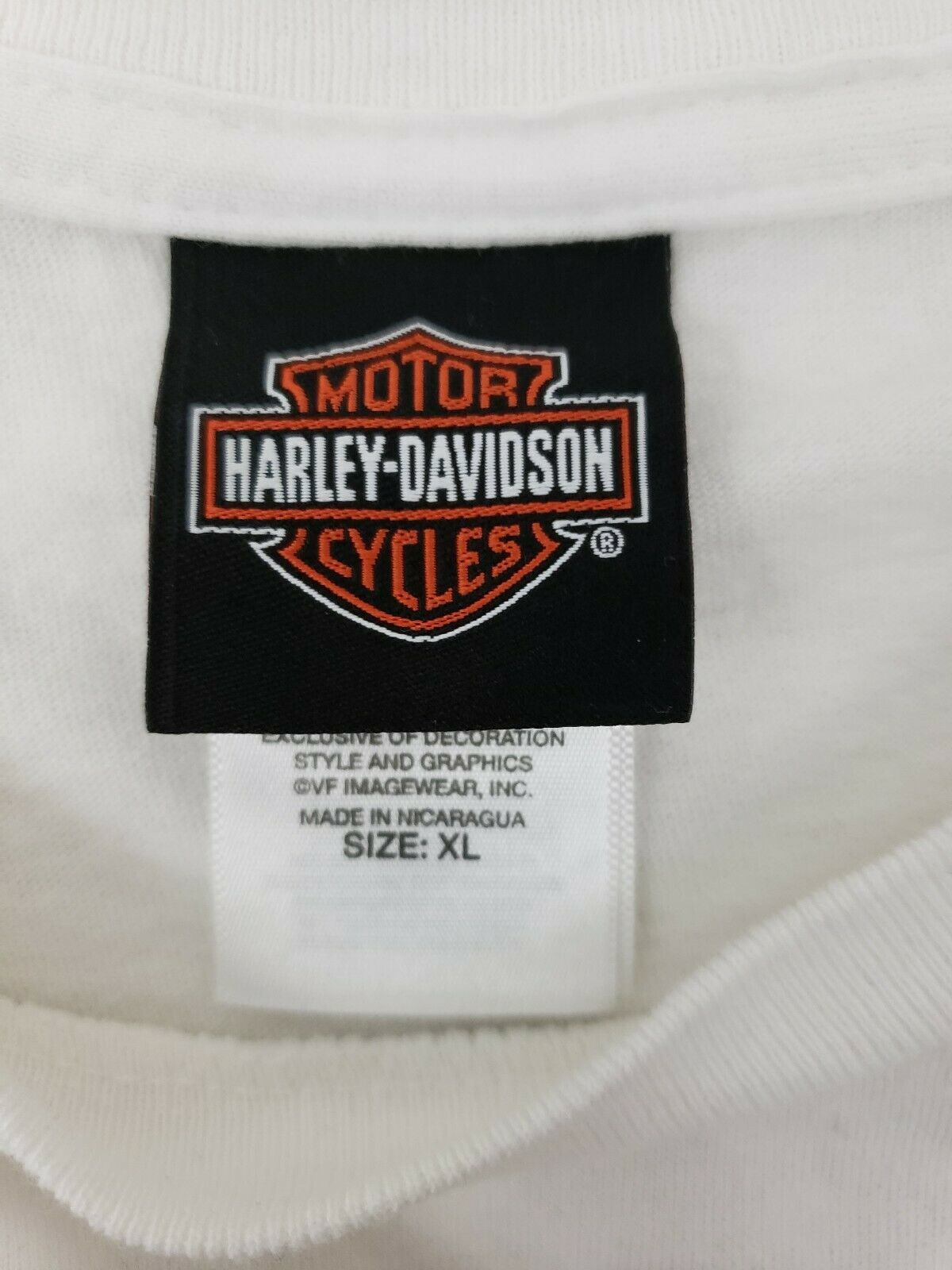 Harley Davidson Ride For Life Charity T-shirt White Size XL Eagle image 5