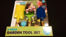 Discovery Kids 3 Piece Real Garden Planting Farmer Tools Hand Rake Shove... - £10.90 GBP