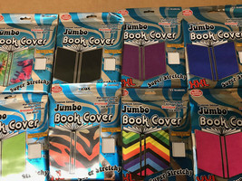 "JUMBO BOOK COVER IT'S ACADEMIC ~  XXL 10 ""x 15"" SUPER STRETCHY CHOOSE YO... - $3.99"