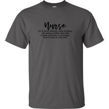Nurse Definition A Scrub Wearing T Shirt Stethoscope Anatomy Caregiver N... - $8.09+