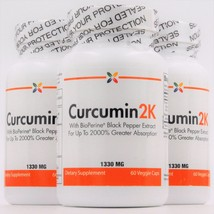 Curcumin2K 1330 mg | BioPeperine | 60 veggie caps (3-Pack) by Stop Aging Now