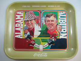 Coca-Cola Football 1975 Commemorative Bear Bryant Shug Jordan Tray Aubur... - $14.85