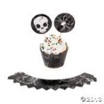 Spooky Soiree Cupcake Collars and Picks - $4.35