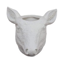 Deer Planter-Wall Planter White Vintage Plant Pot Indoor House Decorativ... - $33.44 CAD