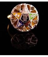 Vintage 10kt GF Masonic ring - sterling ladies Eastern star ring - frate... - $95.00