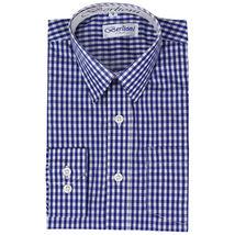 Berlioni Italy Boys Junior Kids Toddler Checkered Long Sleeve Dress Shirt image 5
