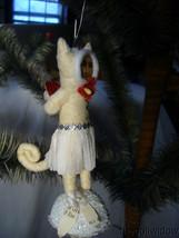 Vintage Inspired Spun Cotton Kitty In Love Kitten Valentine Day Ornament no. V23 image 1