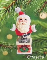 Hallmark 2001 Springing Santa Jack In Box Style Ornament QX8085 - $6.95