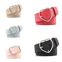 Frosted leather belt Brand Belts For Women Heart Shape Pin Buckle Design... - $9.95+