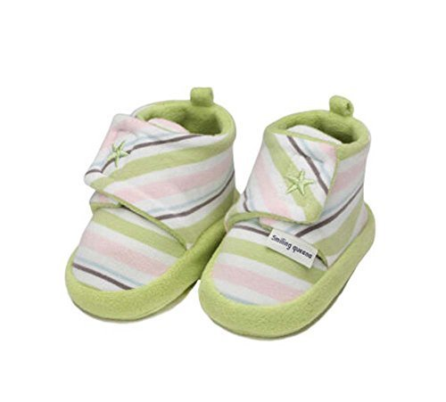 2PCS Kids Shoes Lovely Cotton Shoes Newborn Shoes Infant Toddler Soft Sole GREEN