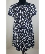 Kate Spade women 2 Leopard print swing dress deep indigo pockets - $144.54