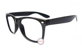 Black Retro Classic Fashion Glasses Frame Unisex Eyewear No Lens - $5.93