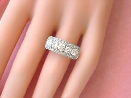Art Deco 1.08ctw Brilliant Diamond Platinum Fancy & Unique 5-STONE Ring 1950 - $2,969.01