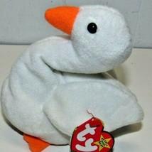 TY Beanie Baby Gracie The Swan 1996 White Bird Bean Bag Toy - £5.75 GBP