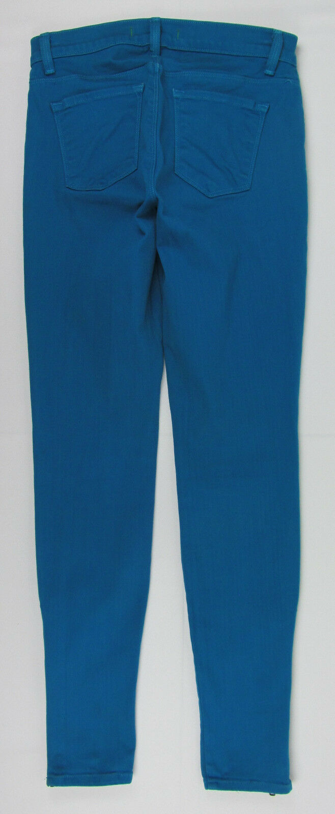 J Brand jeans Azure Ankle Skinny Zipper cuffs USA Made Teal Womens Size 25 image 4