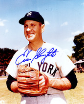 Enos Slaughter Signed New York Yankees Pose 8x10 Photo - $55.00