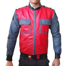BTTF Jacket Marty McFly Back To The Future 2015 Bomber Costume Leather Jacket image 4