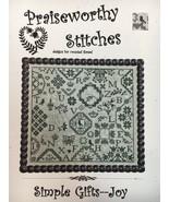 Praiseworthy Stitches Cross Stitch Patterns Sampler Quaker Christmas Flo... - $9.45+