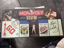 Elvis Presley Monopoly Board Game Collector's Edition 25th Anniv. Pewter... - $33.85