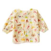Animal Cotton Waterproof Sleeved Bib Baby Feeding Bibs Art Smock One Siz... - $22.57