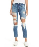 NWT McGUIRE WINDSOR NEAR AND FAR DESTROYED HIGH RISE SLIM CROP JEANS 27   - $116.99