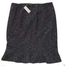 $168 Talbots Italian Wool Career Skirt Fit Flare P10 Large Petite Black Speckled - $72.70