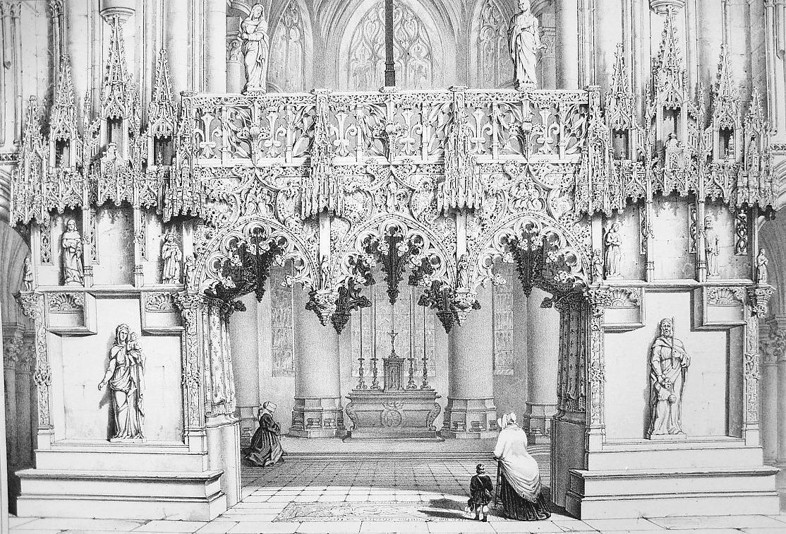 Primary image for ARCHITECTURE PRINT : France Cathedral of Troyes Jube Choir Screen