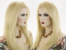 Long Premium Remy Human Hair Lace Front Blonde Brunette Red Straight Wigs - $626.99