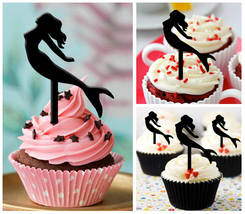 Ca254 Decorations cupcake toppers silhouette my mermaid : 10 pcs - $10.00