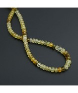 Yellow Diopside Faceted Roundel Beads 6 mm to 8 mm Gem Quality 8 Inch - $237.45