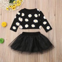Fashion Newborn Baby Girls Flower Long Sleeve Tops Tulle Skirt Outfits Clothes-i image 2