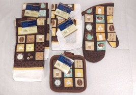 Home Collection Coffee Time 9 Piece Hand Towel Dishcloth Pot Holder Oven... - $24.23