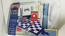 Bicycle Games 2 Go,40 Piece Set including checkers, Backgammon, Dice, etc - $18.81