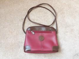 LIZ CLAIBORNE Red Brown Shoulder Bag Purse USED - $11.13