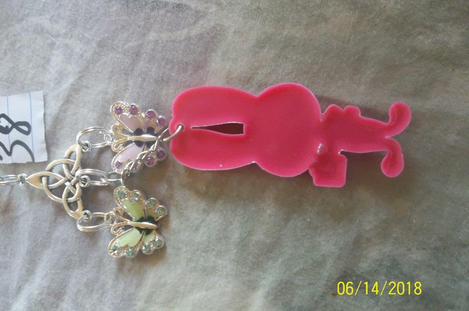 # purse jewlrey silver color Hopps  keychain backpack filigree dangle charm #38 image 4