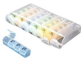 28-Slot 7-Day Weekly Pills/Vitamins Box Detachable Multi-Purpose Organizer - $298,90 MXN