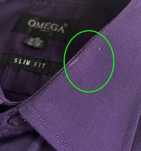 Omega Italy Men's Long Sleeve Slim Fit Purple Dress Shirt w/Defect Medium image 3
