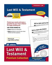 Adams Last Will and Testament, Forms and Instructions, Includes CD LF235 - $19.02