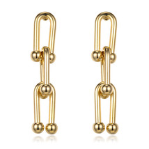 Shineland Irregular Special Vintage Punk Drop Earrings Silver Good Color... - $13.20