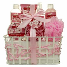 Relaxing Bath Spa Kit for Women and Teens Gift Set Bath Body Works- Cherry  - $38.46