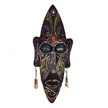 George Jimmy Medium-Sized Carved African Mask Wall Hanging Africa Decor Wall Art - $47.08