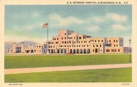 Albuquerque, Nm New Mexico Veterans' Hospital 1940 Curt Teich Linen Postcard - $2.97