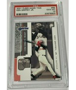 2001 FLEER GAME TIME KEN GRIFFEY JR. #85 CINCINNATI REDS PSA 10 GEM MINT... - $197.99