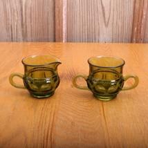 Indiana Glass Company Green Kings Crown Thumbpr... - $28.04