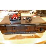 Vintage TEAC W-518R 2 Head Double Deck Stereo Auto Reverse Cassette Deck... - $74.24