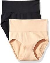 Vassarette Comfortably Smooth Briefs 2 Pack MEDIUM/6 Black & Latte Color... - $12.86