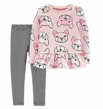 Carter's Baby Girls 2 Pc Pink French Bulldog Set - $22.76
