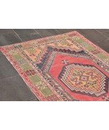 Oushak Rug 4x6 ft, Antique Handmade Wool Carpet, hand knotted rugs, Pale Rug - $307.00