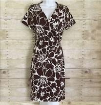 DVF Diane Von Furstenberg New Julian Two Dahlia Chocolate Wrap Dress NWT Size 4 - $78.21