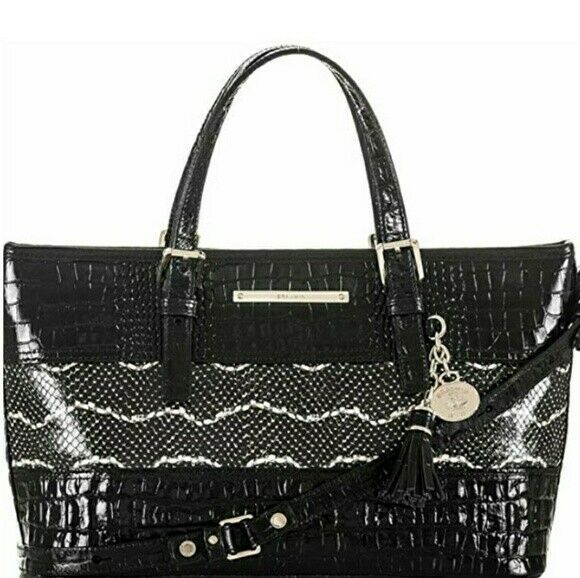 Primary image for NEW! Authentic! BRAHMIN Mini Asher Satchel-Black
